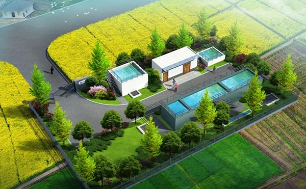 自来水厂重力式无阀滤池(1万吨/天)工艺设计图